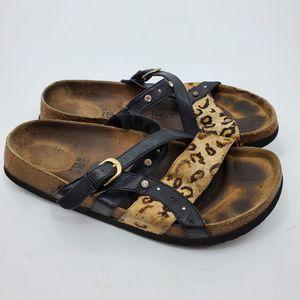 Betula Animal Print Sandals 39  5.5 Birks